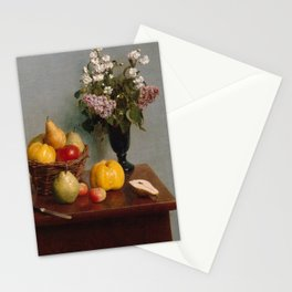 Henri Fantin-Latour - Still Life with Flowers and Fruit (1866) Stationery Cards