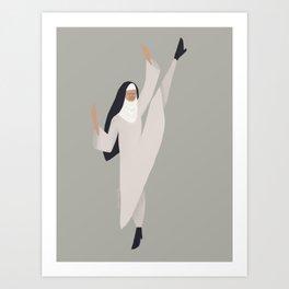 Spring Nun 5 Art Print
