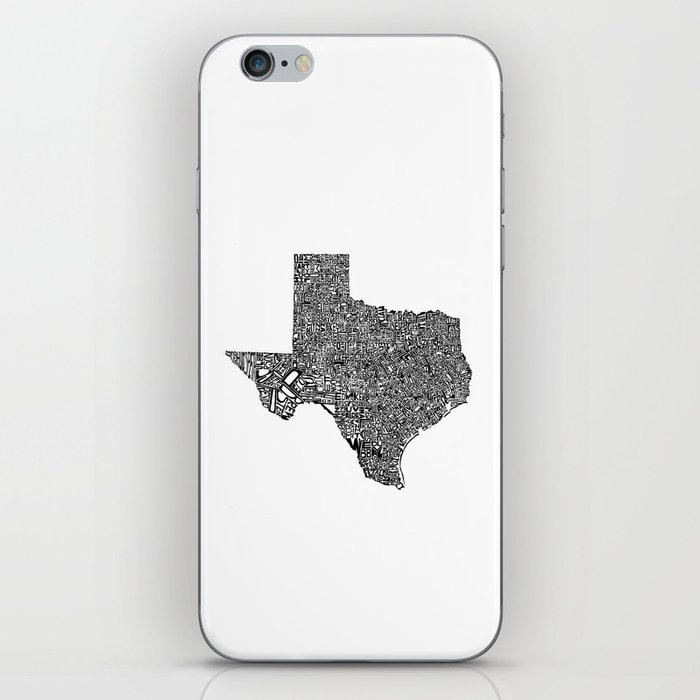 Typographic Texas iPhone Skin