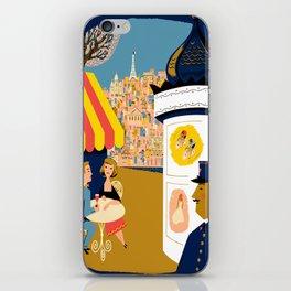 Vintage France Sidewalk Cafe Travel iPhone Skin