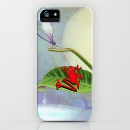 RedFrog and the Dragonfly iPhone Case