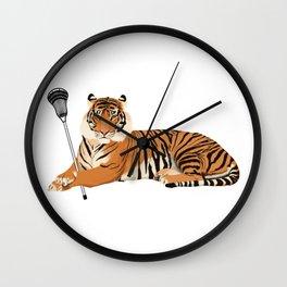 Lacrosse Tiger Wall Clock