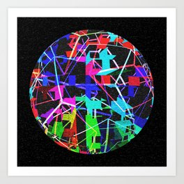 Disco Ball Night Art Print