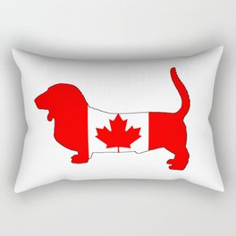 "Basset Hound ""Canada"" Rectangular Pillow"