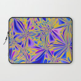FREESIA bright summer colours in abstract floral dragonfly pattern Laptop Sleeve