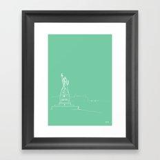 New York by Friztin Framed Art Print