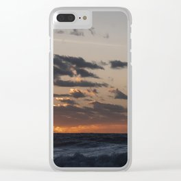 Sunset at dawn in the Ocean Clear iPhone Case
