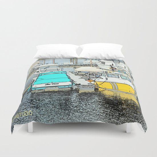 The Boat Dance Duvet Cover