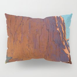 Sunset on the sandstone cliffs, Canyon de Chelly Landscape by Edgar Alwin Payne Pillow Sham