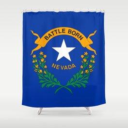 Nevada State Flag Shower Curtain