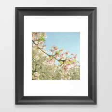 Pink on White Framed Art Print