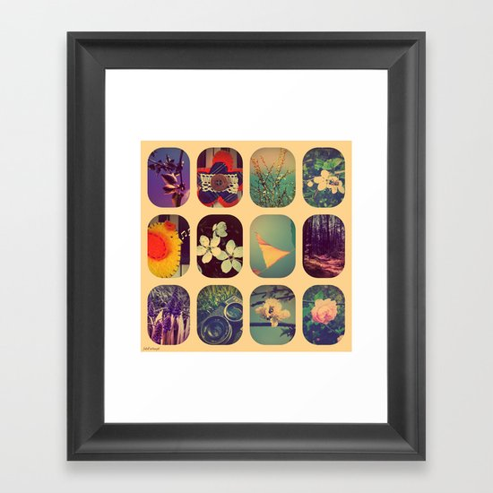 Spring collage Framed Art Print