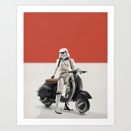 Vespa Troooper Art Print