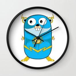 Golang - Iris Gopher Wall Clock