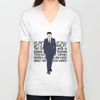 moriarty V-neck T-shirts featuring James Moriarty by tookthat
