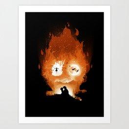 Midnight Calcifer Art Print