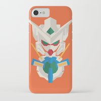 gundam iPhone & iPod Cases featuring gundam exia flat design by advino
