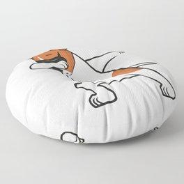 Dabbing Jack Russell Dog. Funny, cool dancing puppy. Dab dance. Cartoon dog. Floor Pillow
