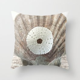 """ArtfulNotions 281"" Seashell Art by Murray Bolesta Throw Pillow"