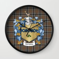 Thompson Crest and Tartan Wall Clock