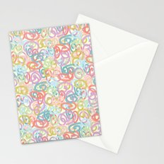 Colored pattern Stationery Cards