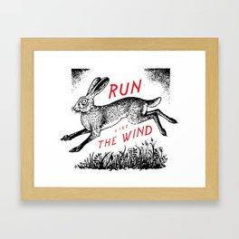 Run Like The Wind Framed Art Print