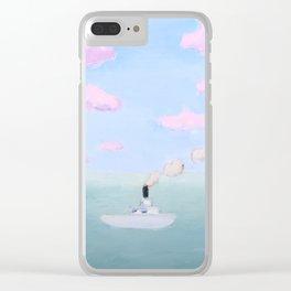 Little Boat in a Big Ocean Clear iPhone Case