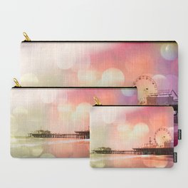 Sparkling pink Santa Monica Pier Carry-All Pouch