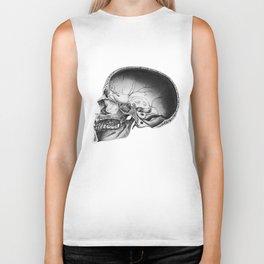 Halved Human Skull Biker Tank