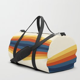 Bright 70's Retro Stripes Reflection Duffle Bag