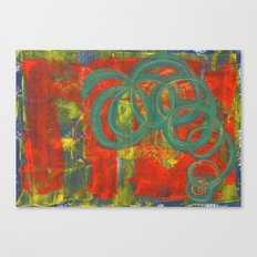 Green spirals Canvas Print