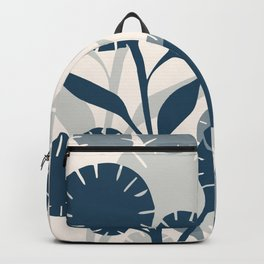 Wildflowers Large - Blue Backpack