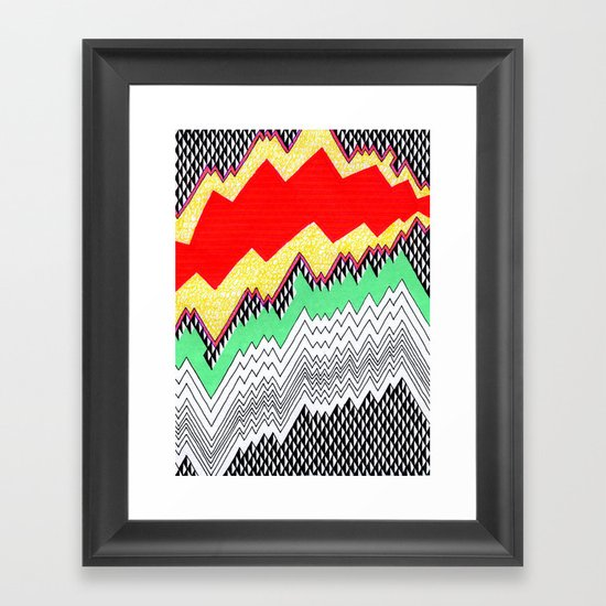 Isometric Harlequin #1 Framed Art Print