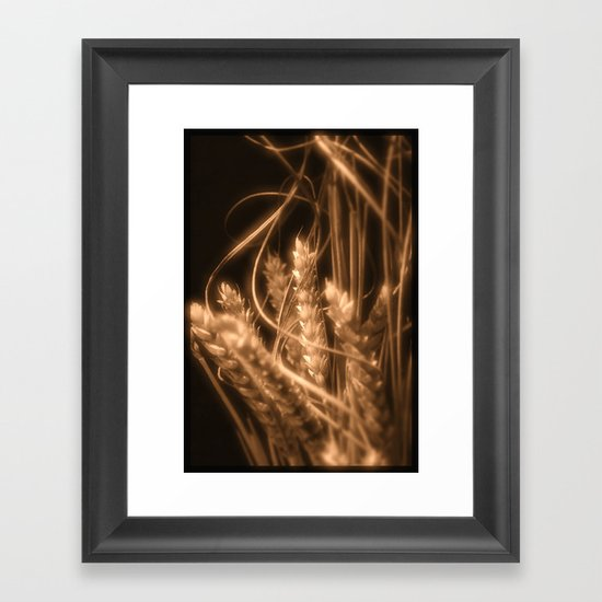 Wheat in sepia Framed Art Print