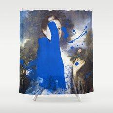 Blue Bomb Shower Curtain