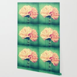Romantic Vintage Roses Wallpaper