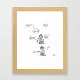 A paper gift from Mochi the pug to mami Framed Art Print