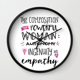 The Composition of Powerful Women Wall Clock