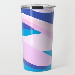 lucia, orange sunset ocean waves Travel Mug