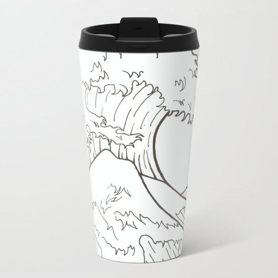 The wave of Kanagawa Metal Travel Mug