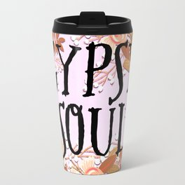 Boho Floral Gypsy Soul Travel Mug