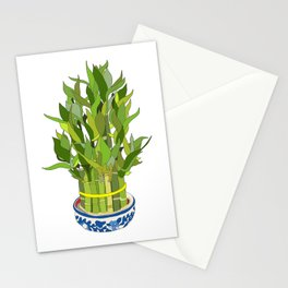 Lucky Bamboo in Porcelain Bowl Stationery Cards