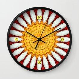 Porcelain Daisies Wall Clock