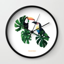 TOUCAN TANGO JUNGLE PRINT Wall Clock