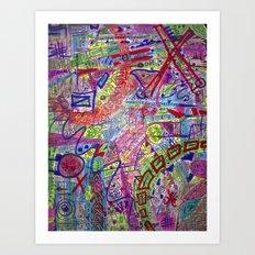 Brain Dump Art Print