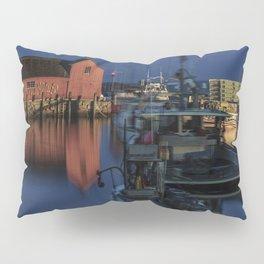 Moonlit Rockport Harbor Pillow Sham