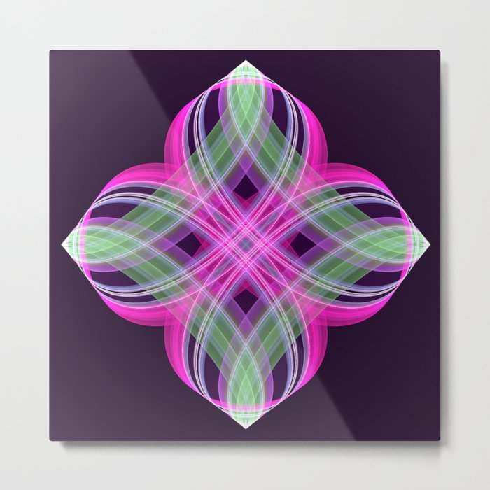 Four points decorative abstract design Metal Print