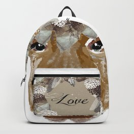 Cow with Love Hat Backpack
