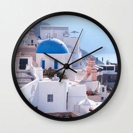 Santorini Island, Greece Wall Clock