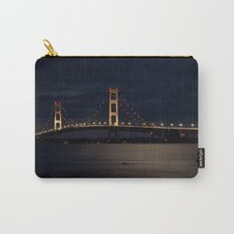 Mackinac Bridge at night Carry-All Pouch
